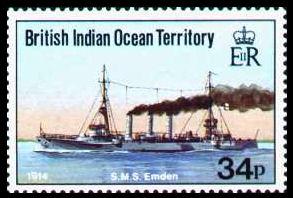 S.M.S. Emden - Briefmarke des British Indian Ocean Territory