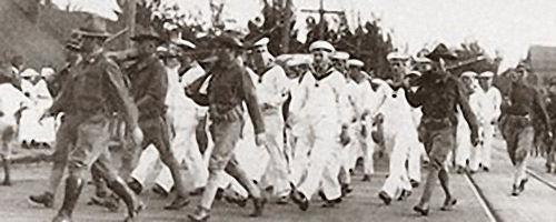 Internierung der deutschen Mannschaft von S.M.S. Geier auf Hawaii 1914