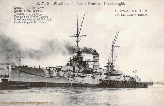S.M.S. Westfalen, Erster Deutscher Dreadnought