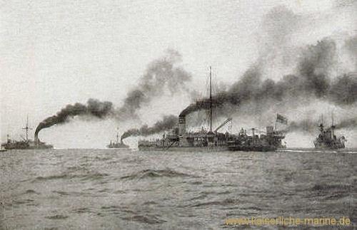Sachsenklasse, Panzerschiffe III. Klasse (umgebaut - 1 Schornstein) als I. Division des Manövergeschwaders, 1894