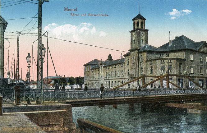 Memel, Börse und Börsenbrücke