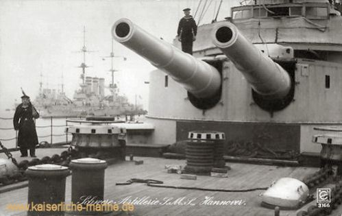 S.M.S. Hannover - Schwere Artillerie