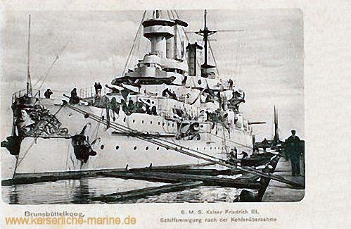 S.M.S. Kaiser Friedrich III. - Schiffsreinigung nach der Kohlenübernahme