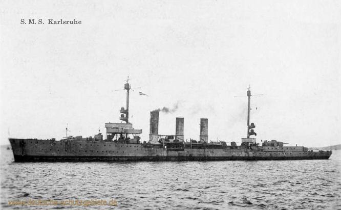 S.M.S. Karlsruhe, Kleiner Kreuzer 1916