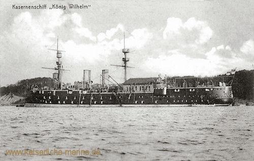 S.M.S. König Wilhelm, Kasernenschiff