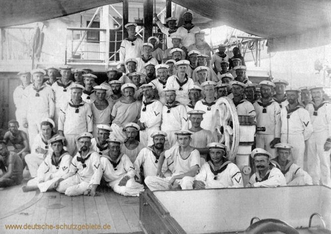 S.M.S. Möwe, Mannschaft 1896