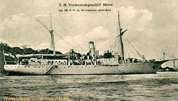 S.M.S. Möwe am 20.09.1914 in Daressalam gesunken