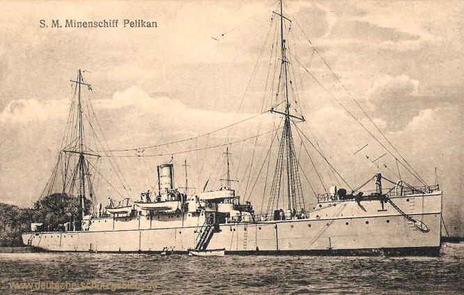 S.M.S. Pelikan, Minenschiff