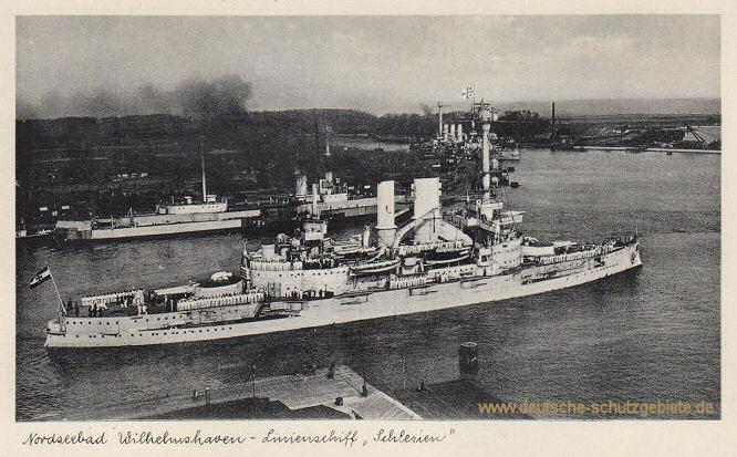 Nordseebad Wilhelmshaven, Linienschiff Schlesien (Reichsmarine)
