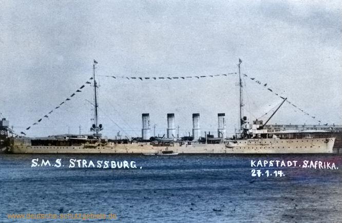 S.M.S. Strassburg, Kapstadt 27.1.1914