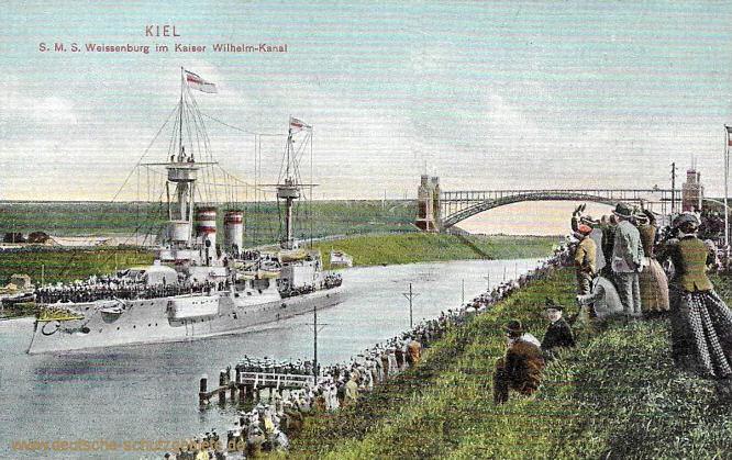 S.M.S. Weissenburg im Kaiser Wilhelm-Kanal