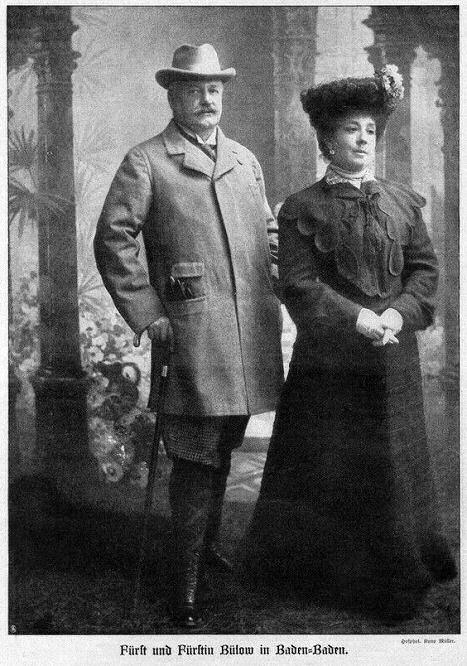 Fürst und Fürstin Bülow in Baden-Baden