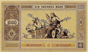 Reichsbanknote 1000 Mark 01.01.1876 Rückseite