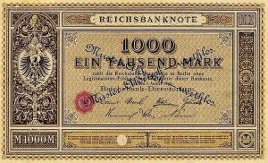 Reichsbanknote 1000 Mark 01.01.1876 Vorderseite