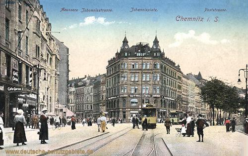 Chemnitz, Äußere Johannisstraße, Johannisplatz, Poststraße