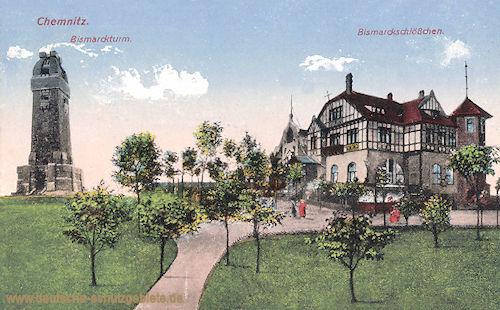 Chemnitz, Bismarckturm, Bismarckschlösschen