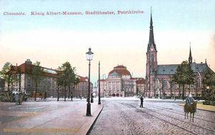 Chemnitz, König Albert-Museum, Stadttheater, Petrikirche
