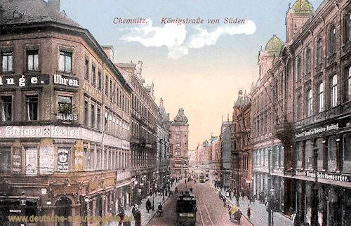 Chemnitz, Königstraße von Süden