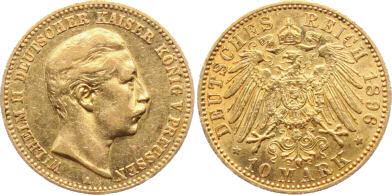Deutsches Reich 10 Mark 1896 (Preußen)