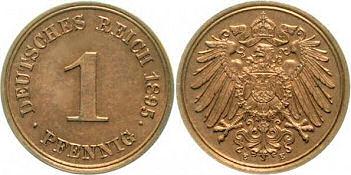 Deutsches Reich 1 Pfennig 1895