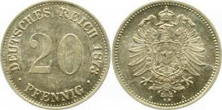 Deutsches Reich 20 Pfennig 1873