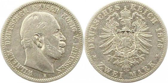 Deutsches Reich 2 Mark 1876 (Preußen)