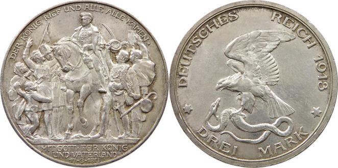 Deutsches Reich 3 Mark 1913 (Preußen)