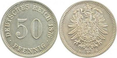 Deutsches Reich 50 Pfennig 1876