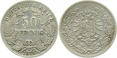 Deutsches Reich 50 Pfennig 1878