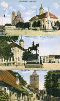 Prenzlau, Marktplatz, Kaiser Wilhelm-Denkmal, Mauerstraße