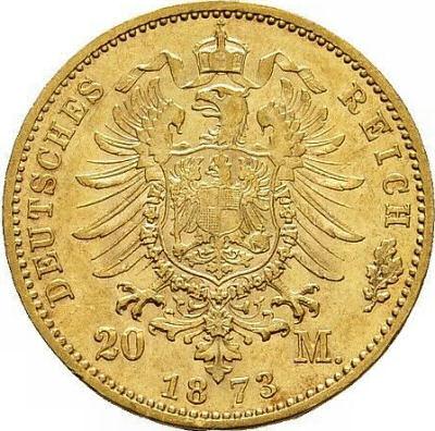 Wertseite 20 Mark 1871-1873