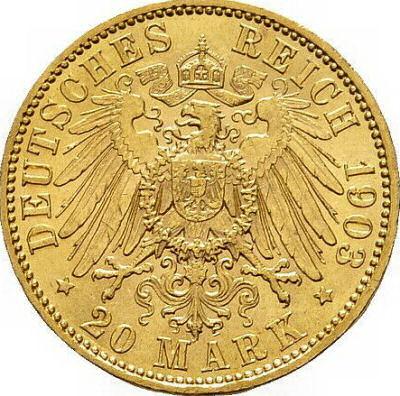 Wertseite 20 Mark 1890-1922