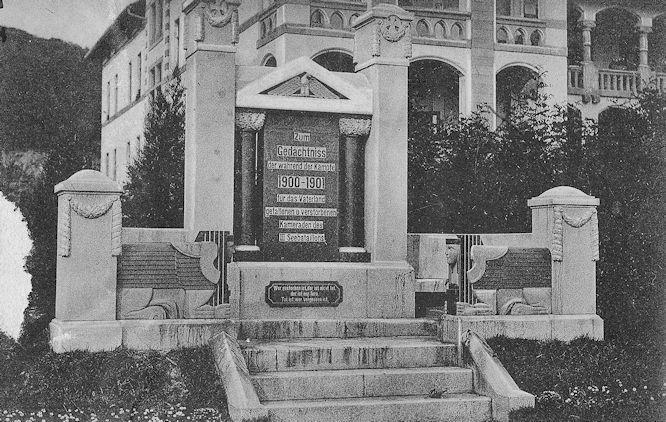 Zum Gedächtnis der während der Kämpfe 1900-1901 für das Vaterland gefallenen und verstorbenen Kameraden des III. Seebataillons.