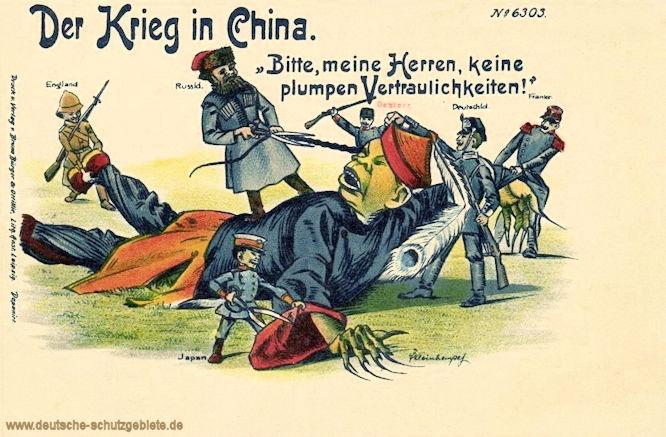 """Der Krieg in China. """"Bitte, meine Herren, keine plumpen Vertraulichkeiten!"""""""