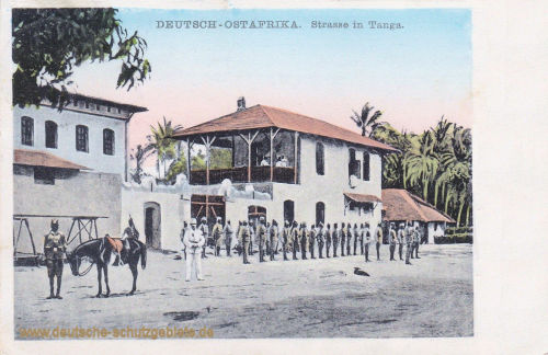 Deutsch-Ostafrika, Straße in Tanga