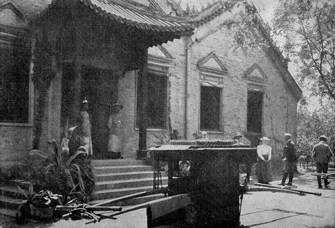 Das deutsche Gesandtschaftsgebäude in Peking, die Wirkungsstätte des ermordeten Gesandten Freiherrn von Ketteler.