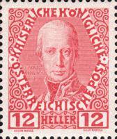 Franz I., Freimarke Österreich 1908