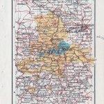 Landkarte Provinz Sachsen, Anhalt