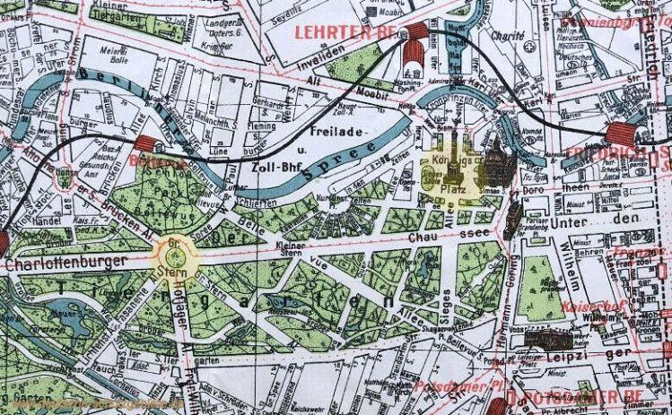 Berlin, Siegessäule mit Standort Königsplatz