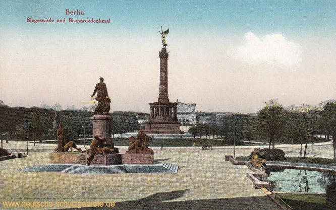 Berlin, Siegessäule und Bismarckdenkmal