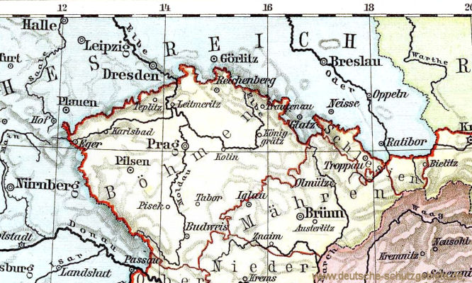 Böhmen, Mähren und Österreichisch Schlesien, 1899