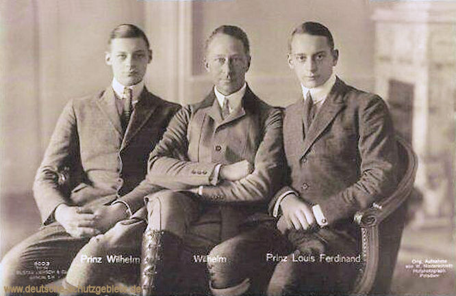 Prinz Wilhelm, Kronprinz Wilhelm, Prinz Louis Ferdinand
