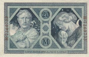 Reichsbanknote 20 Mark 04.11.1915 Rückseite