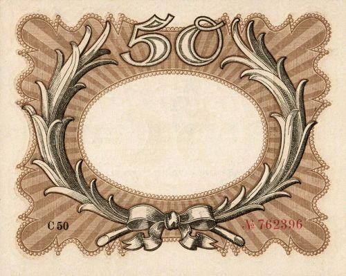 Reichsbanknote 50 Mark 30.11.1918 Rückseite