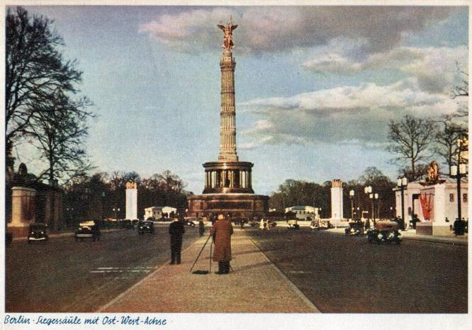 Berlin, Siegessäule mit Ost-West-Achse 1939