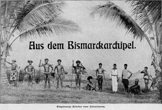 Aus dem Bismarckarchipel. Eingeborene Arbeiter vom Jabimstamm