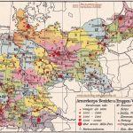 Armeekorps-Bezirke und Truppen-Verteilung 1914