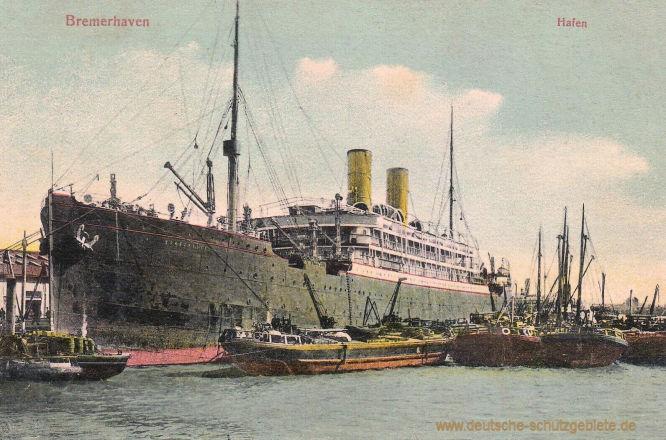 Bremerhaven, Hafen, Reichspostdampfer Barbarossa