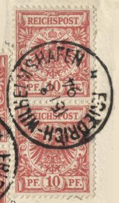 Friedrich-Wilhelmshafen Deutsch-Neu-Guinea 15/8 94, 10 Pfennig