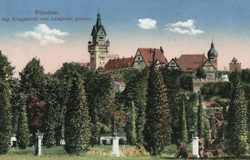 Potsdam, Königliche Kriegsschule vom Lustgarten gesehen